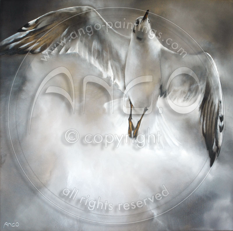 Sea gull painting