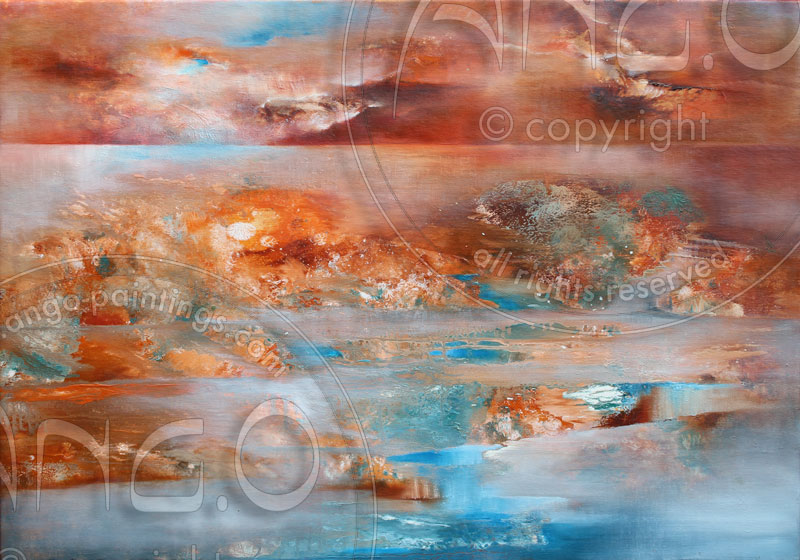 Ango paintings : Abstract Painting « landscape »