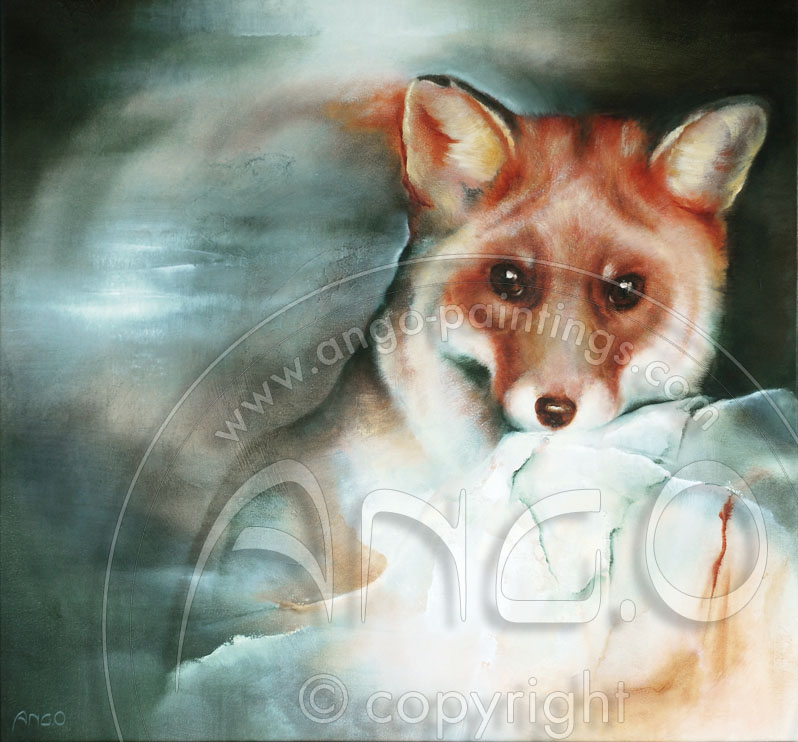 Wildlife paintings : Fox painting
