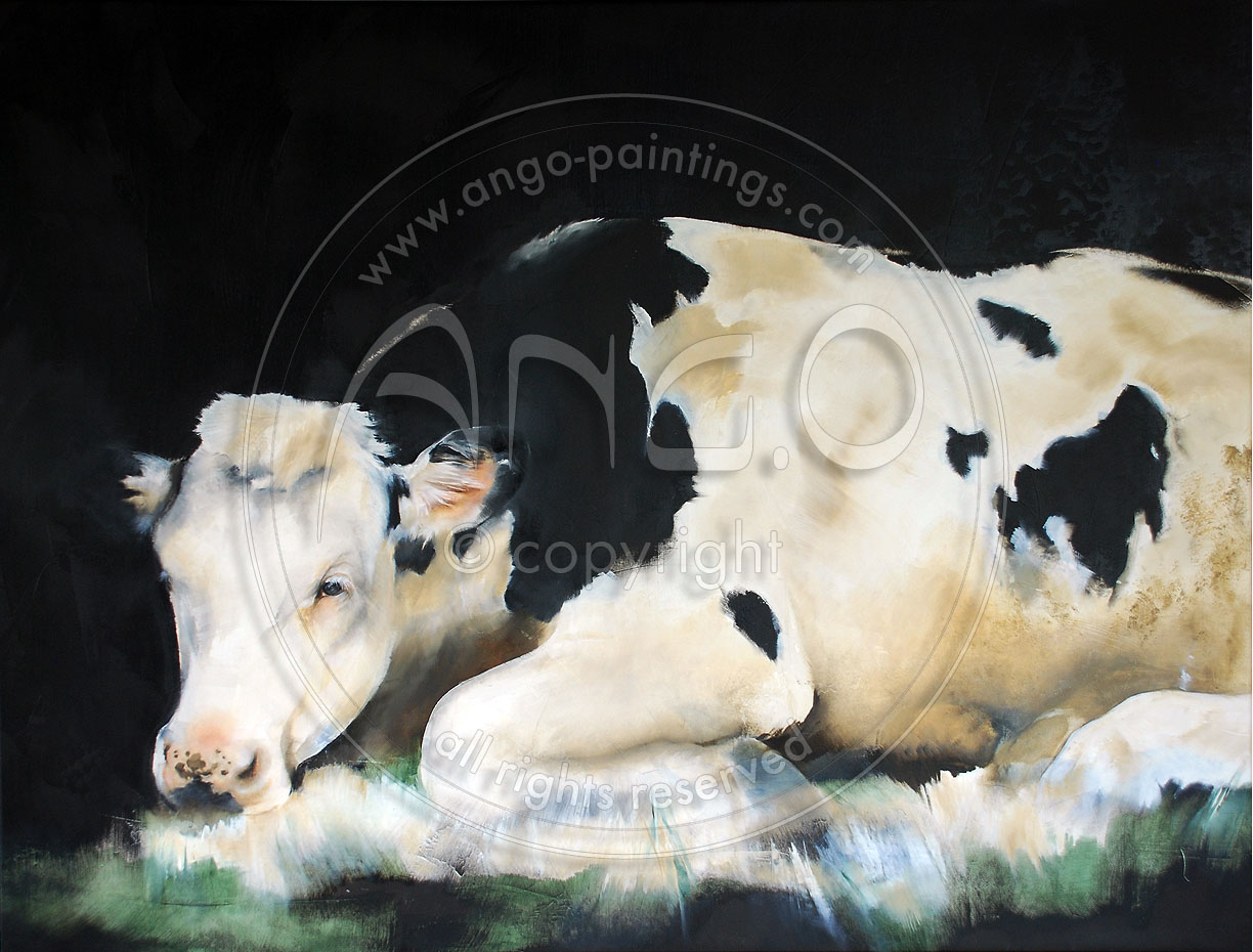 Animal paintings : Cow painting