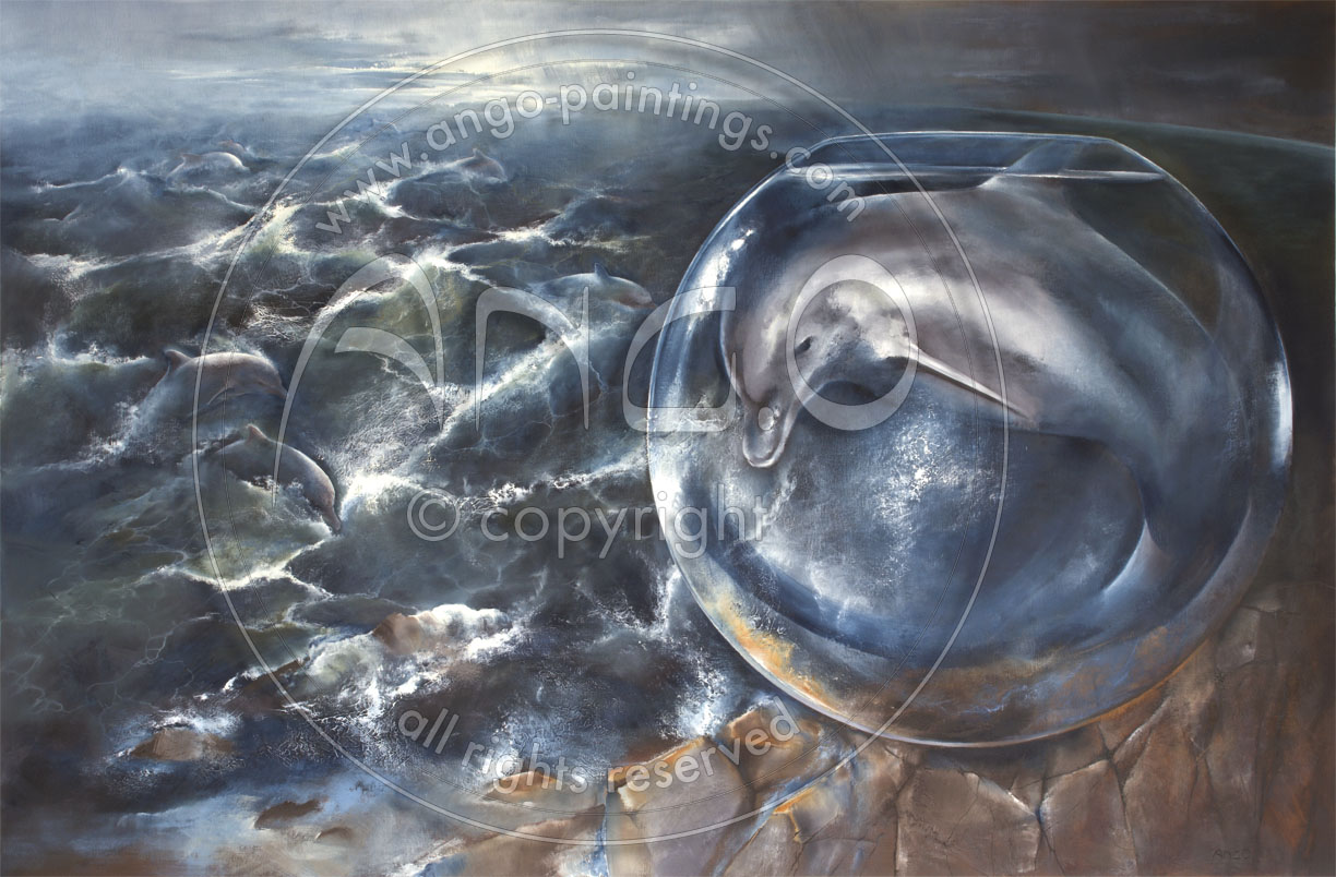 Wildlife paintings : Dolphin painting