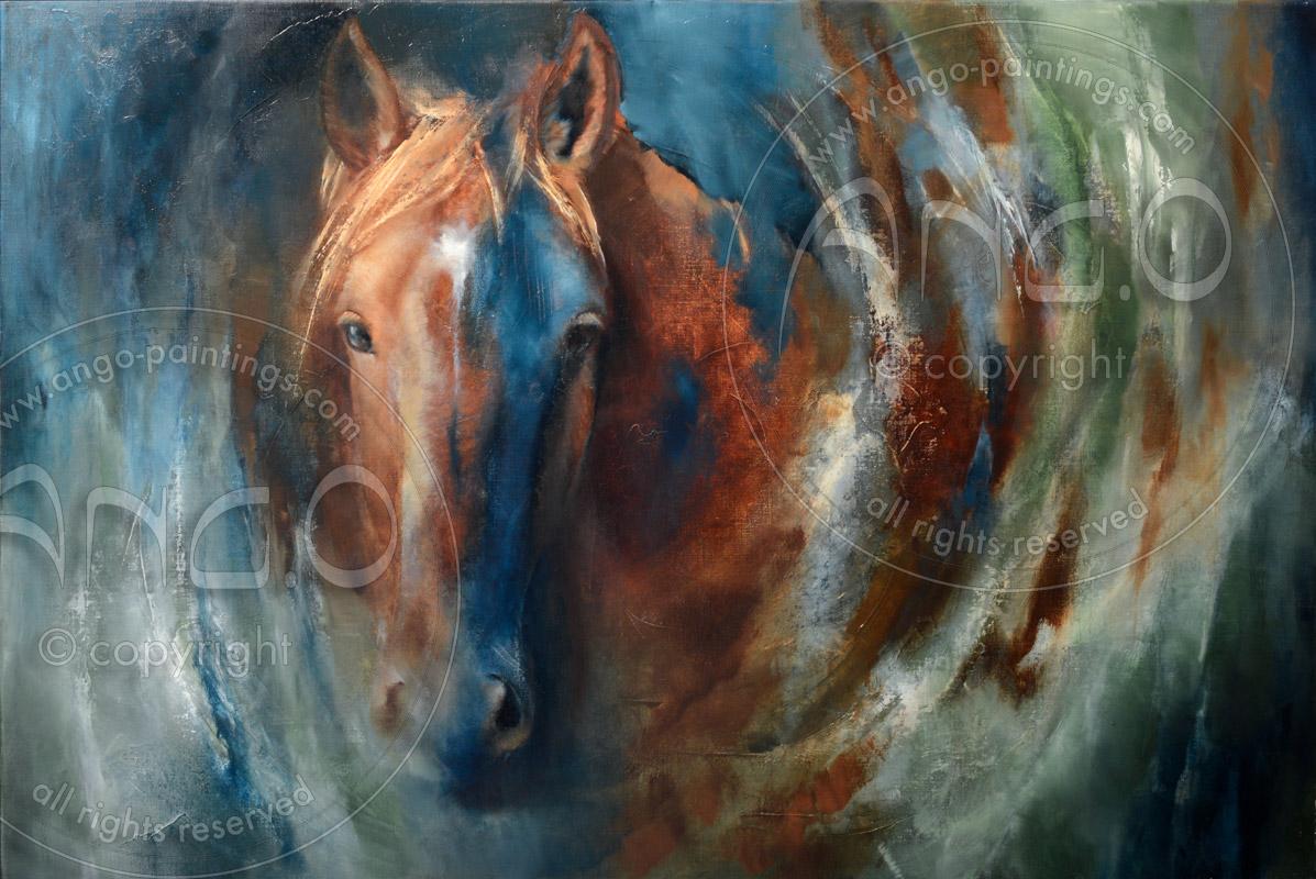 Wildlife paintings : Horse painting