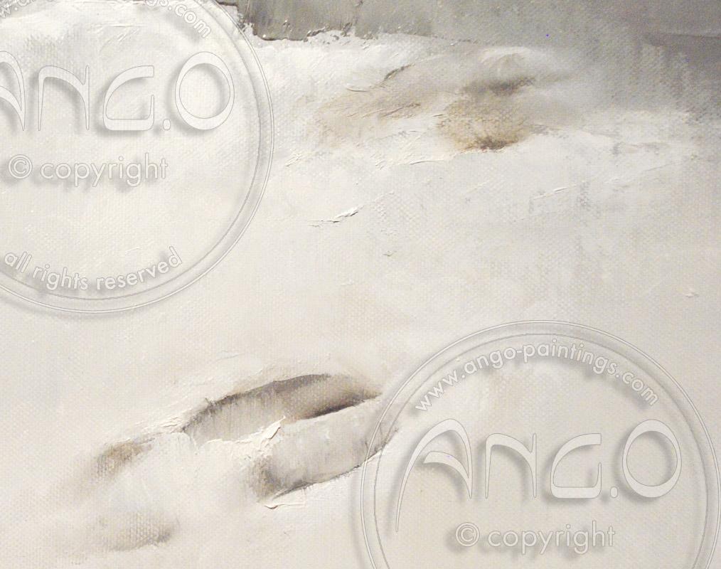 Landscape paintings : Snow Landscape Painting « Footprints »