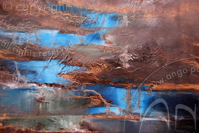 Landscape paintings : Landscape Painting « Vintgar gorges »