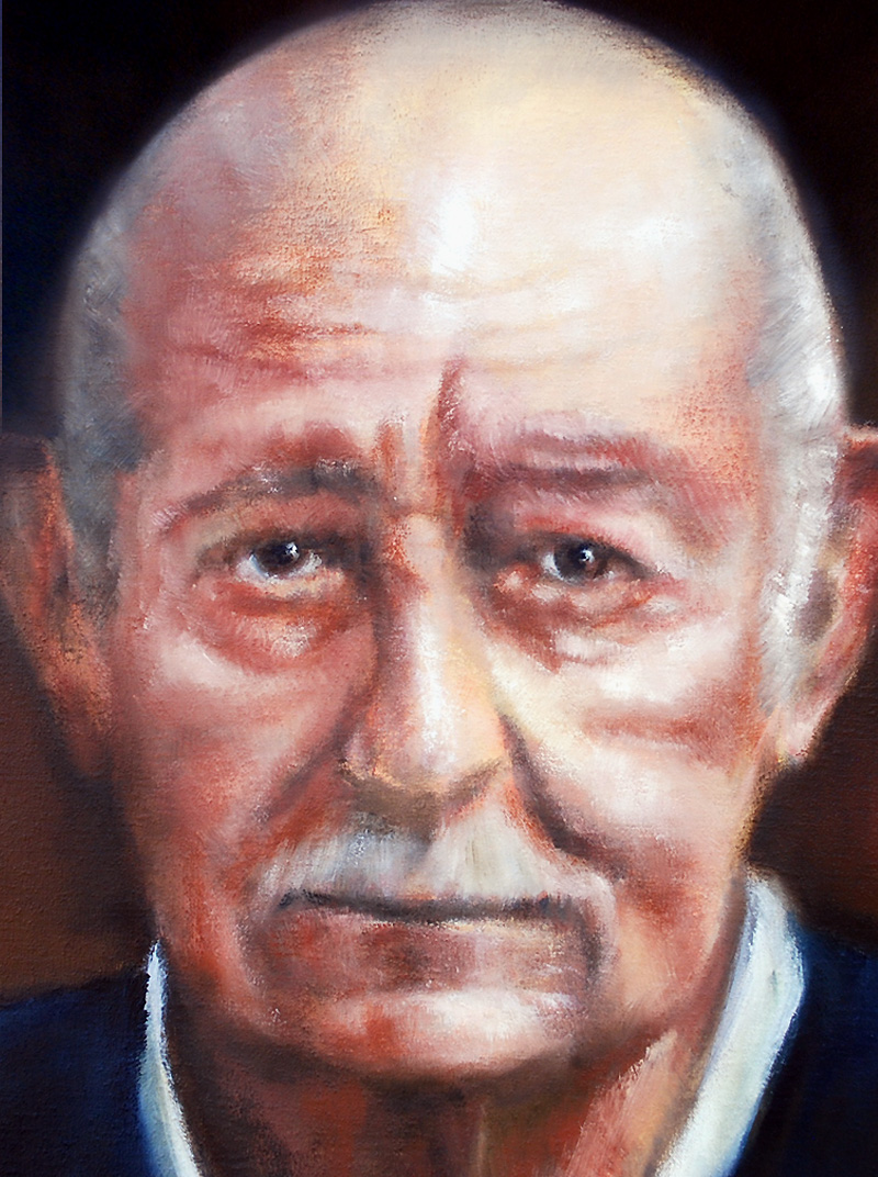 AngO Art : Portrait Oil Painting « Old man »