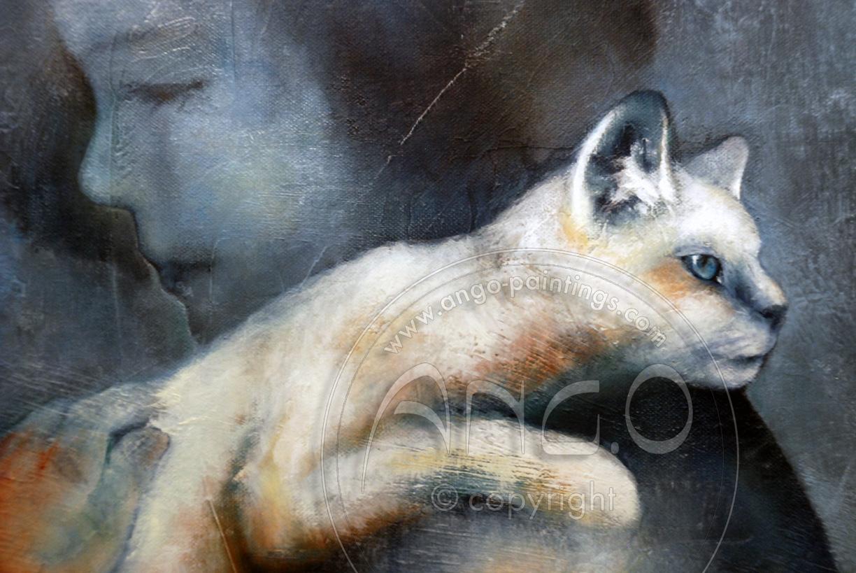 AngO Art : Kid & cat « Two »