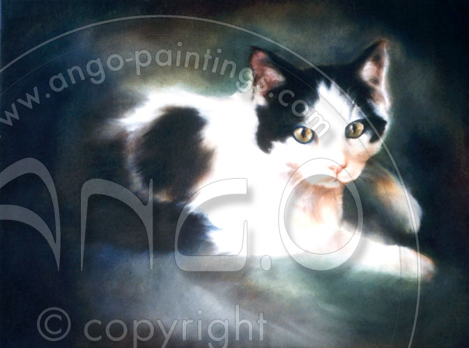 Wildlife paintings : Cat painting