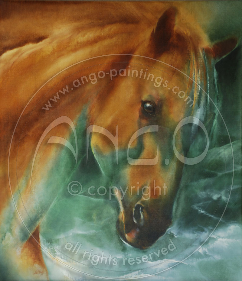 Wildlife paintings : Horse painting