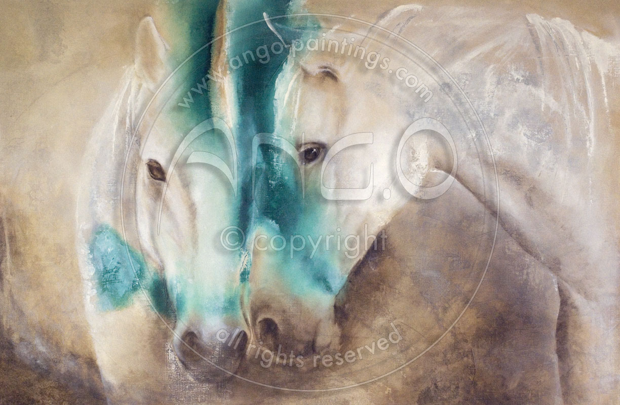 Wildlife paintings : Horses painting