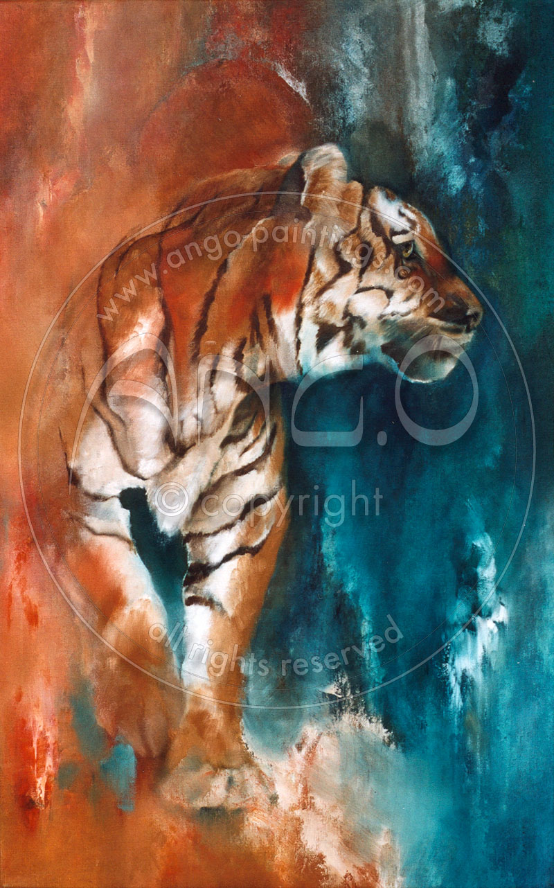 Wildlife paintings : Tiger painting