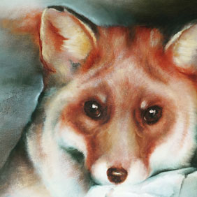Animal paintings : Fox painting by Ang.O