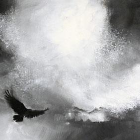 Crow Elon painting