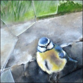 Blue tit painting