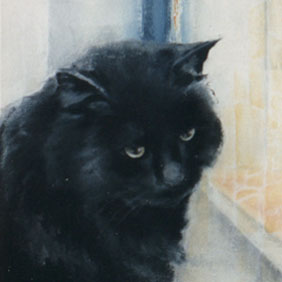 Animal paintings : Cat painting