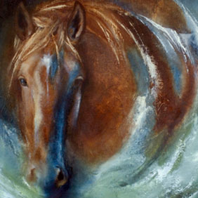 Animal paintings : Horse painting by Ang.O