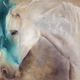 Animal paintings : Horses painting by Ang.O