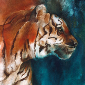 Animal paintings : Tiger painting