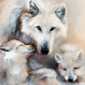 Animal paintings : Wolves painting
