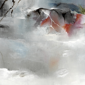 Snow landscape painting